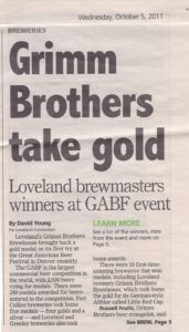 Grimm Brothers wins gold at 2011 GABF