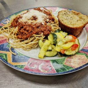 Spaghetti Lunch at MOW-LB